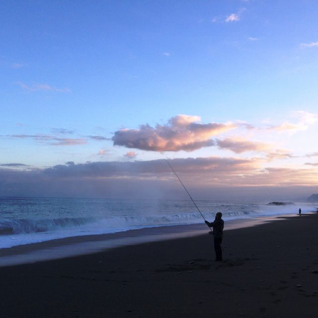 ヒスイ海岸フクラギ釣り