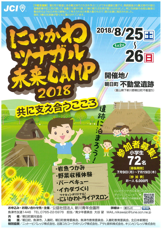 にいかわツナガル未来CAMP2018チラシ