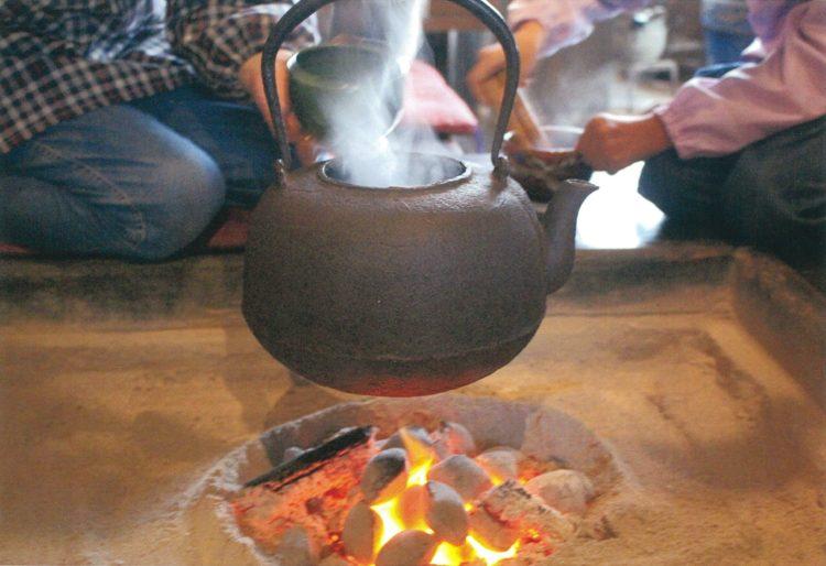 昔の人が使っていた囲炉裏