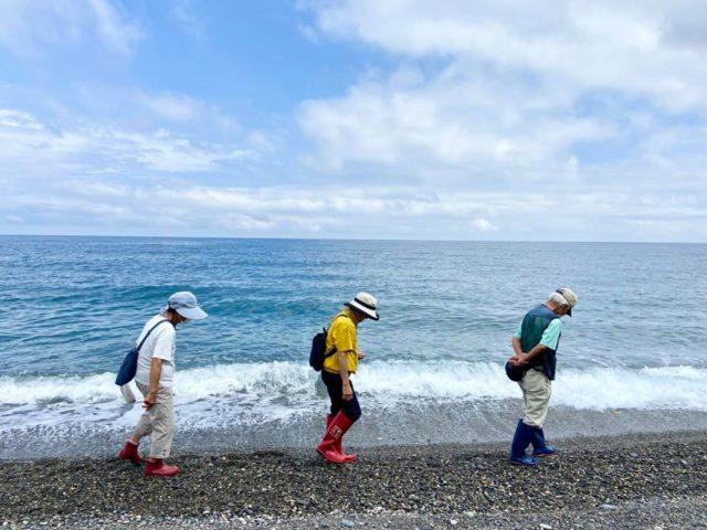 ヒスイ海岸で名人と宝ものさがし&ソウルフードタラ汁づくり体験
